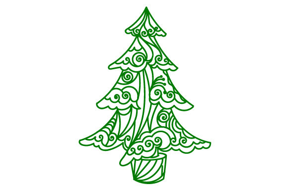 Christmas Tree Svg Cut File By Creative Fabrica Crafts