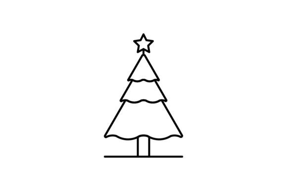 Print on Demand: Christmas Tree Graphic Icons By khld939