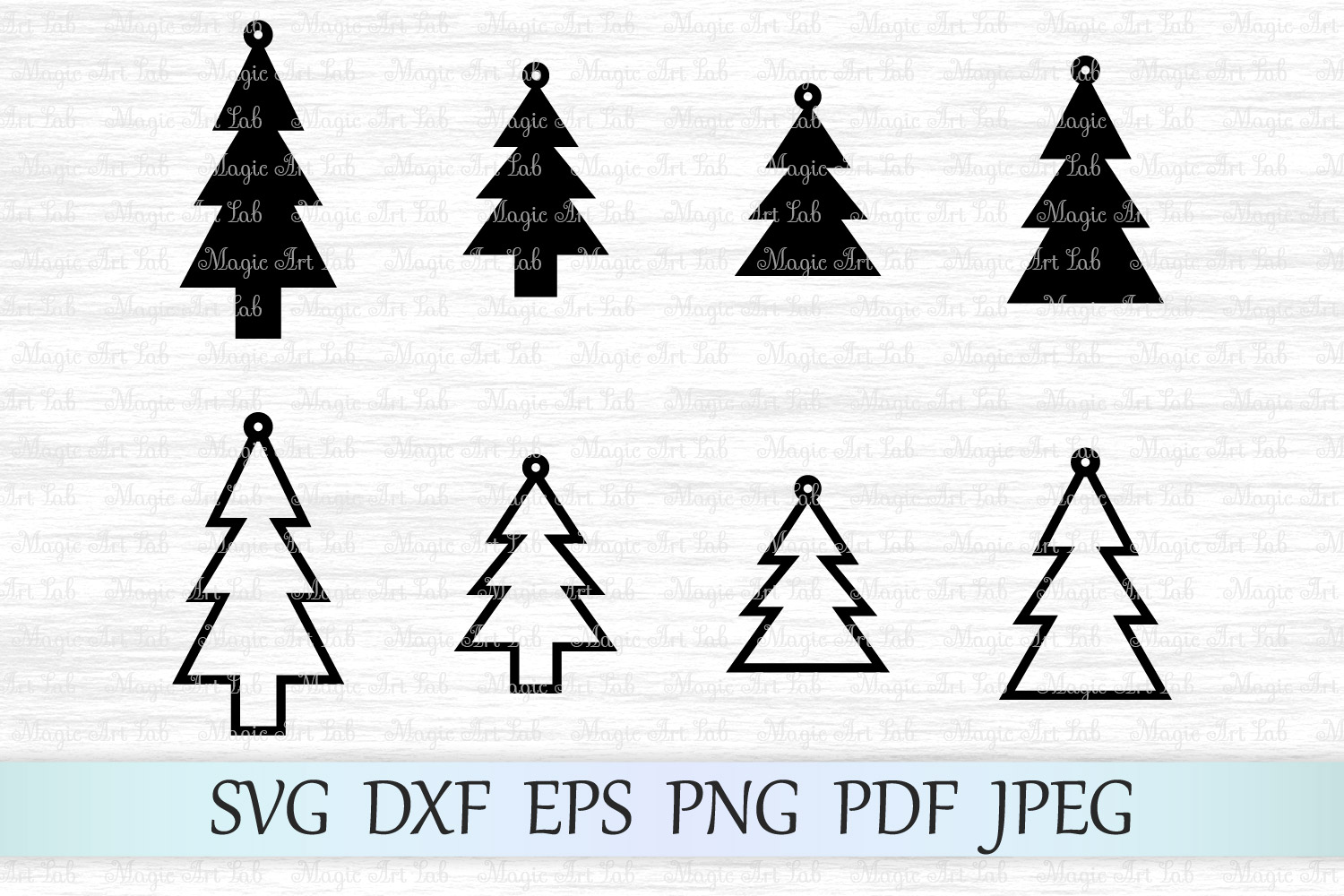 Download Free Christmas Tree Earrings Svg Graphic By Magicartlab Creative for Cricut Explore, Silhouette and other cutting machines.