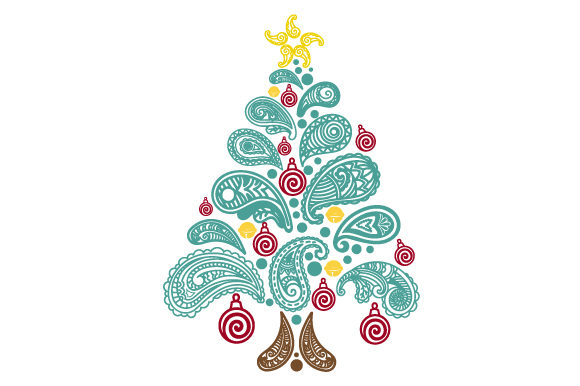 Christmas Tree Made of Paisley Patterns Paisley Craft Cut File By Creative Fabrica Crafts