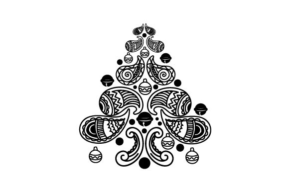 Download Free Christmas Tree Made Of Paisley Patterns Svg Cut File By Creative for Cricut Explore, Silhouette and other cutting machines.