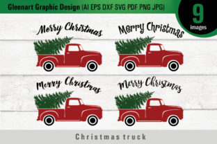 Christmas Truck with Tree - Svg Files Graphic By Gleenart Graphic Design