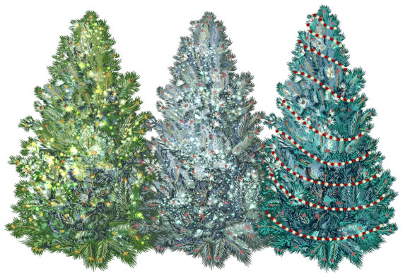 Christmas Vector Trees Clipart Graphic Objects By fleurartmariia - Image 2
