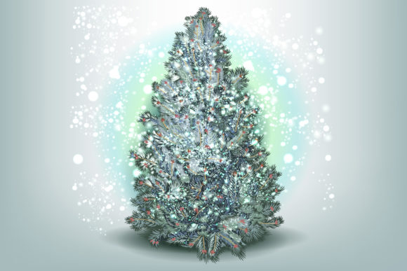Christmas Vector Trees Clipart Graphic Objects By fleurartmariia - Image 3
