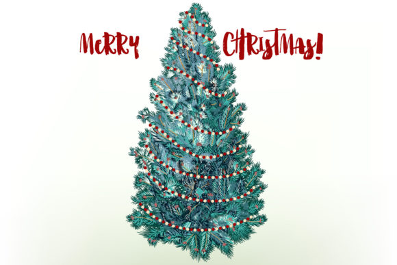 Christmas Vector Trees Clipart Graphic Objects By fleurartmariia - Image 4