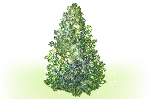 Christmas Vector Trees Clipart Graphic Objects By fleurartmariia - Image 5