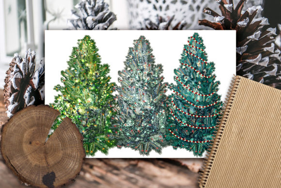 Christmas Vector Trees Clipart Graphic Objects By fleurartmariia - Image 7