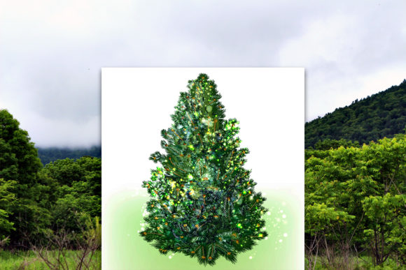 Christmas Vector Trees Clipart Graphic Objects By fleurartmariia - Image 9