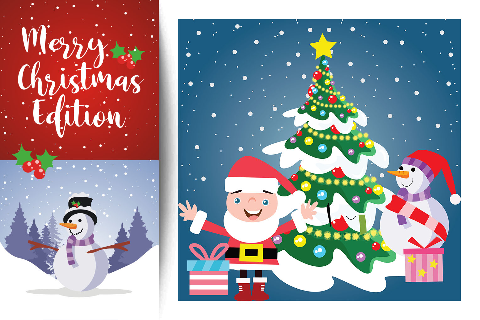 Download Free Christmas Winter Illustration Design Vector Graphic By for Cricut Explore, Silhouette and other cutting machines.