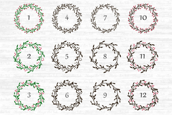 Download Free Christmas Wreath Graphic By Magicartlab Creative Fabrica for Cricut Explore, Silhouette and other cutting machines.