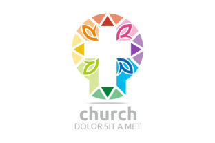 Church Cross Logo Graphic Logos By Acongraphic