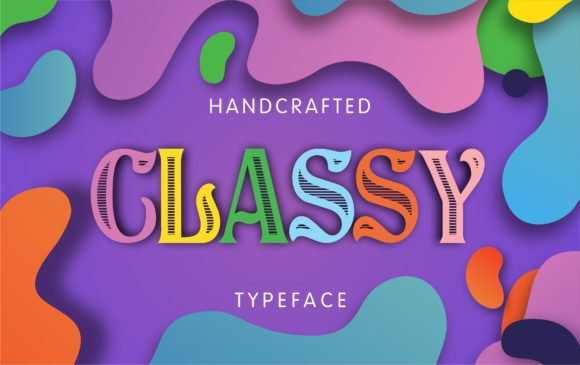 Print on Demand: Classy Display Font By bywahtung
