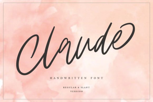 Print on Demand: Claude Family Script & Handwritten Font By Geranium.co