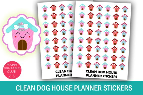 Download Free Clean Dog House Planner Stickers Graphic By Happy Printables for Cricut Explore, Silhouette and other cutting machines.