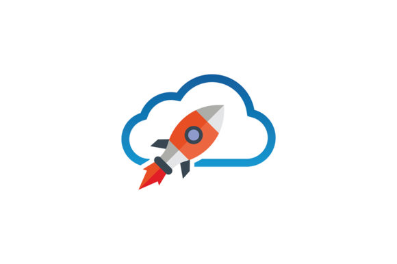 Download Free Cloud Rocket Logo Graphic By Friendesigns Creative Fabrica for Cricut Explore, Silhouette and other cutting machines.