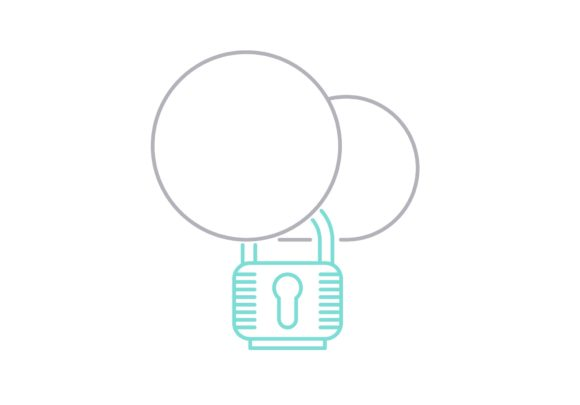 Print on Demand: Cloud Security Graphic Icons By Iconika