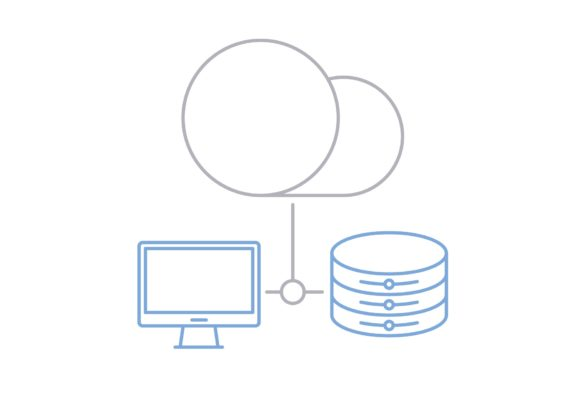 Print on Demand: Cloud Database Graphic Icons By Iconika