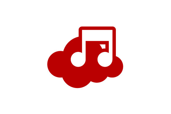 Download Free Cloud Music Note Vector Logo Graphic By Hartgraphic Creative for Cricut Explore, Silhouette and other cutting machines.
