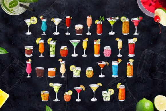 Cocktails Bundle + Bonus Graphic Illustrations By tregubova.jul - Image 2