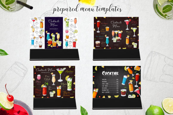 Cocktails Bundle + Bonus Graphic By tregubova.jul Image 4