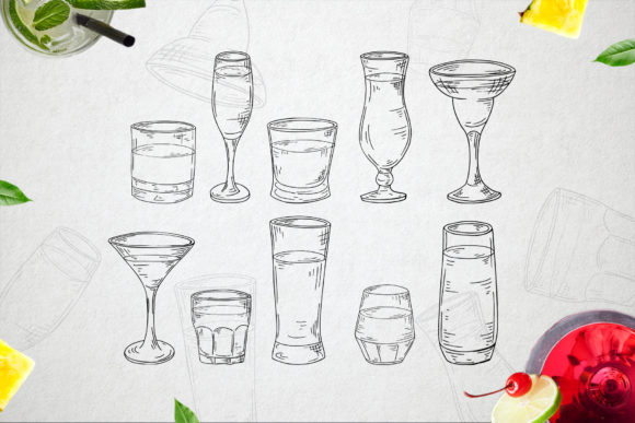 Cocktails Bundle + Bonus Graphic Illustrations By tregubova.jul - Image 8