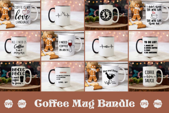 Download Free Coffee Bundle Graphic By Creativespace Creative Fabrica for Cricut Explore, Silhouette and other cutting machines.