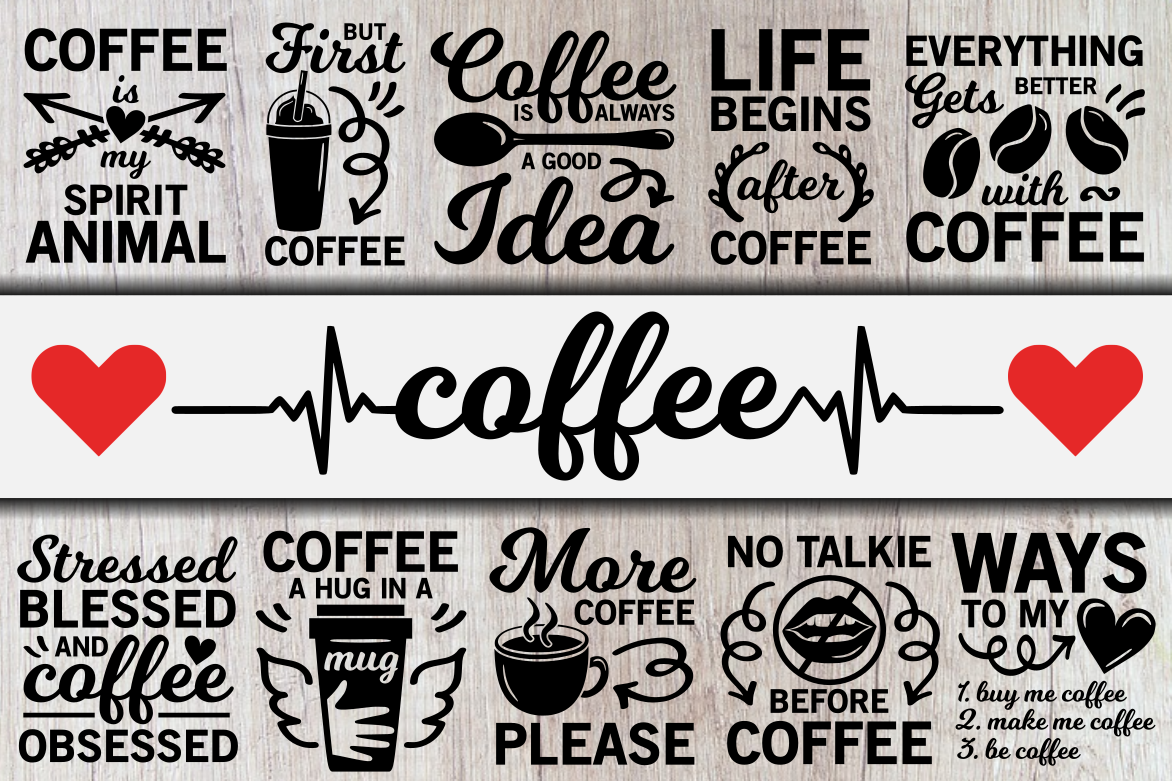 Download Free Coffee Bundle Graphic By Crystalgiftsstudio Creative Fabrica for Cricut Explore, Silhouette and other cutting machines.