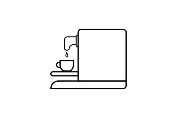 Print on Demand: Coffee Machine Graphic Icons By khld939 - Image 1