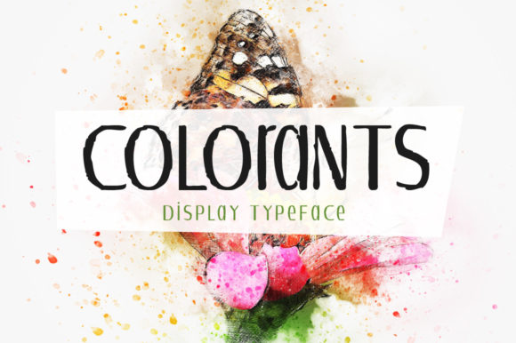 Print on Demand: Colorants Display Font By Shattered Notion
