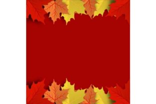 Colorful Autumn Maple Leaf Background Graphic By ojosujono96