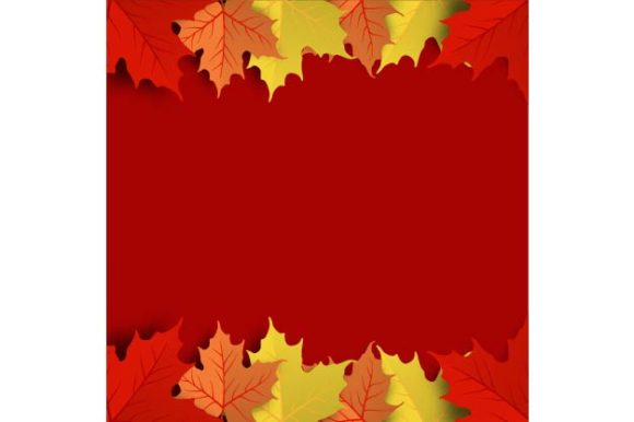 Download Free Colorful Autumn Maple Leaf Background Graphic By Ojosujono96 for Cricut Explore, Silhouette and other cutting machines.