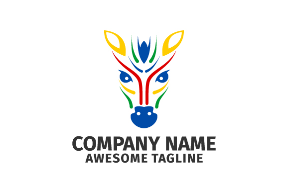 Colorful Zebra Horse Head Vector Logo Graphic By Hartgraphic