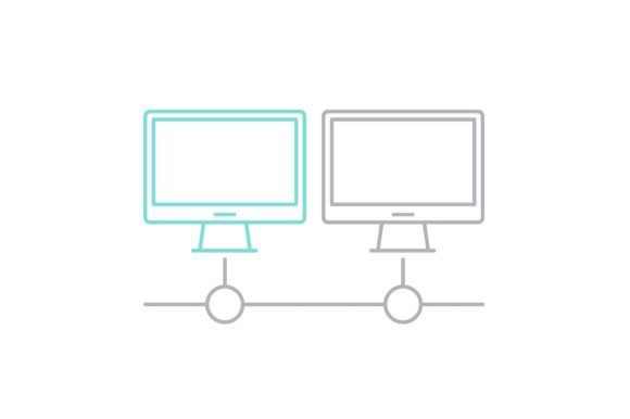 Print on Demand: Computer Database Graphic Icons By Iconika