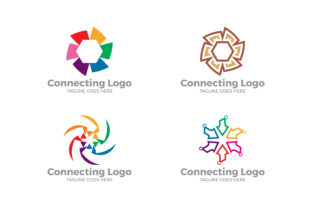 Download Free Connecting Logo Set Grafico Por Thehero Creative Fabrica for Cricut Explore, Silhouette and other cutting machines.