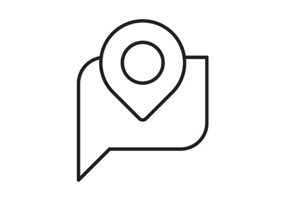 Print on Demand: Conversation Location Graphic Icons By Iconika