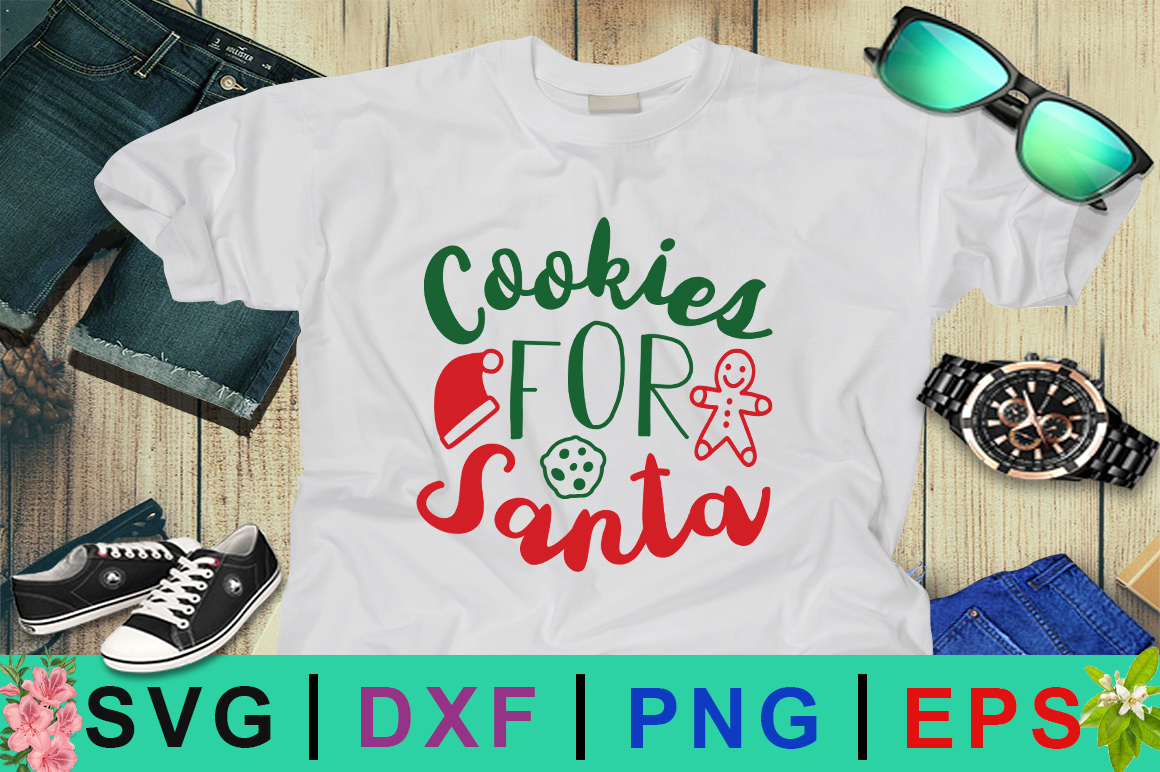 Download Free Cookies For Santa Christmas Design Graphic By Design Palace for Cricut Explore, Silhouette and other cutting machines.