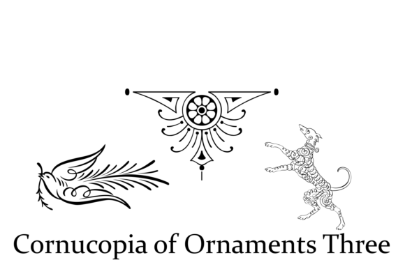 Print on Demand: Cornucopia of Ornaments Two Dingbats Font By Intellecta Design