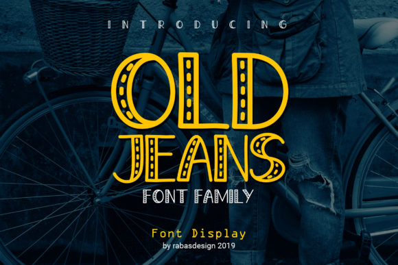 Print on Demand: Old Jeans Display Font By Rabas Design