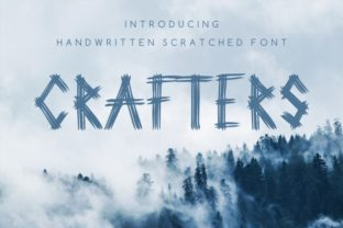 Print on Demand: Crafters Script & Handwritten Font By bywahtung