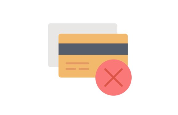 Print on Demand: Credit Card Refuse Graphic Icons By Iconika