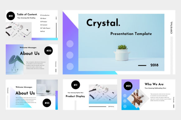 Crystal Powerpoint Presentation Graphic Presentation Templates By TMint - Image 2