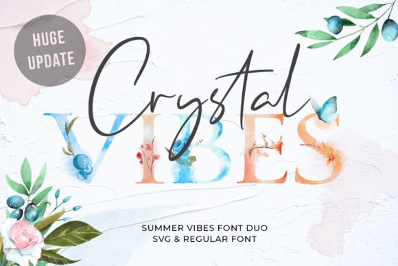 Print on Demand: Crystal Vibes Serif Font By 50Fox