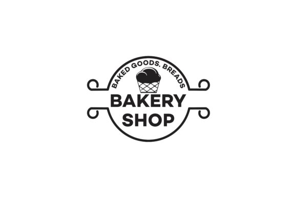 Download Free Cup Cake Bakery Logo Graphic By Yahyaanasatokillah Creative for Cricut Explore, Silhouette and other cutting machines.