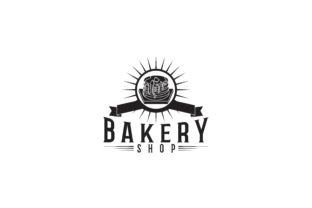 Download Free Cupcake Bakery Logo Graphic By Yahyaanasatokillah Creative Fabrica for Cricut Explore, Silhouette and other cutting machines.