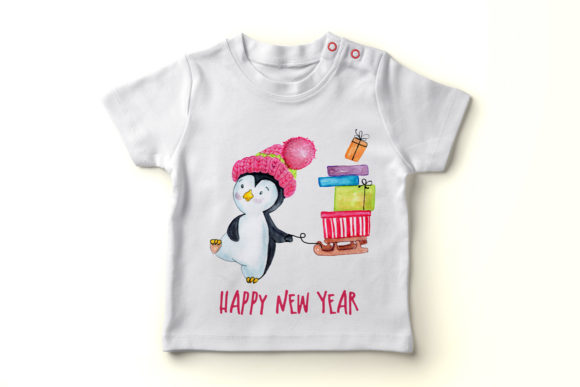 Download Free Cute Watercolour Penguins Clipart Graphic By Vivastarkids for Cricut Explore, Silhouette and other cutting machines.
