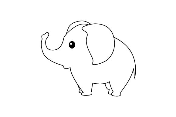 Download Free Cute Elephant Svg Cut File By Creative Fabrica Crafts Creative Fabrica for Cricut Explore, Silhouette and other cutting machines.