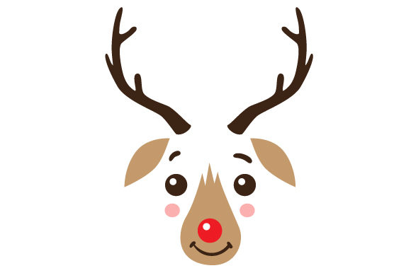 Cute Reindeer Face Christmas Craft Cut File By Creative Fabrica Crafts