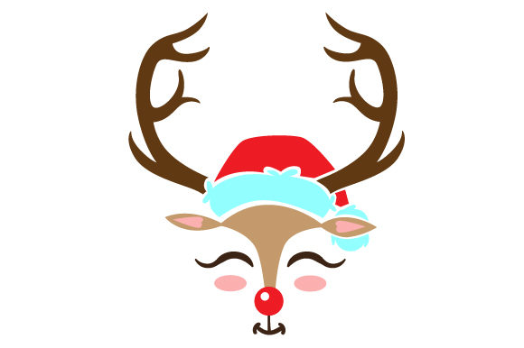 Download Free Cute Reindeer Face Svg Cut File By Creative Fabrica Crafts SVG Cut Files