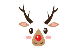 Cute Reindeer Face Christmas Craft Cut File By Creative Fabrica Crafts 1