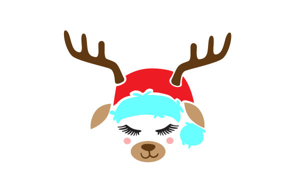 Download Free Cute Reindeer Face Archivos De Corte Svg Por Creative Fabrica for Cricut Explore, Silhouette and other cutting machines.